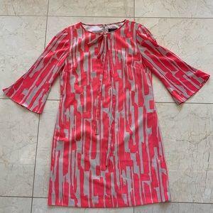 Tahari NWOT Neon Mid-Sleeve Dress Sz 6 $495